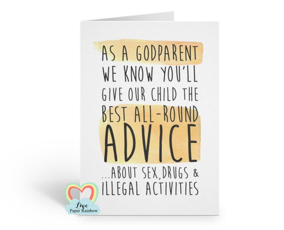 funny godmother card, funny godfather card, funny godparent card, inappropriate godfather card, will you be my godfather