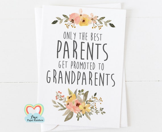 only the best parents get promoted to grandparents you're going to be grandparent pregnancy announcement grandparents card i'm pregnant