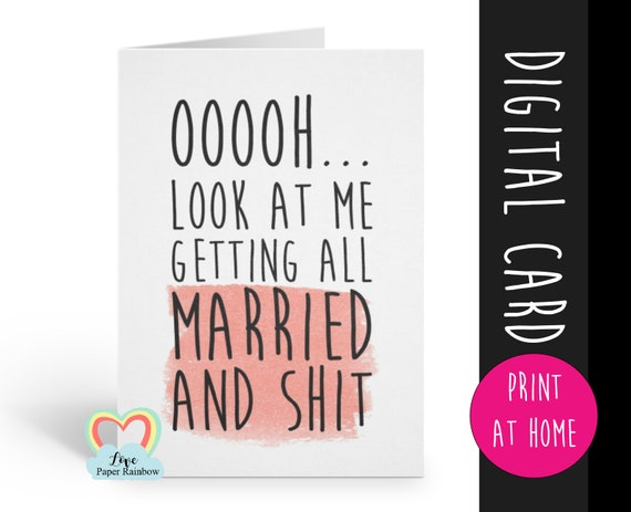 PRINTABLE will you be my bridesmaid card, funny bridesmaid card, engagement announcement printable, maid of honor printable card