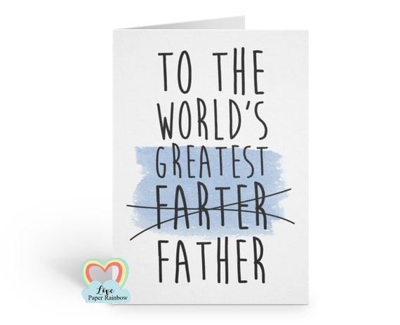 funny father's day card happy farters day to the world's greatest farter funny dad birthday card fart father's day card dad fart