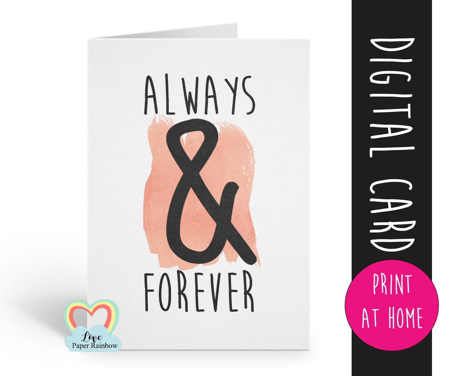 photograph about Happy Anniversary Card Printable named PRINTABLE anniversary card, PRINTABLE valentines card