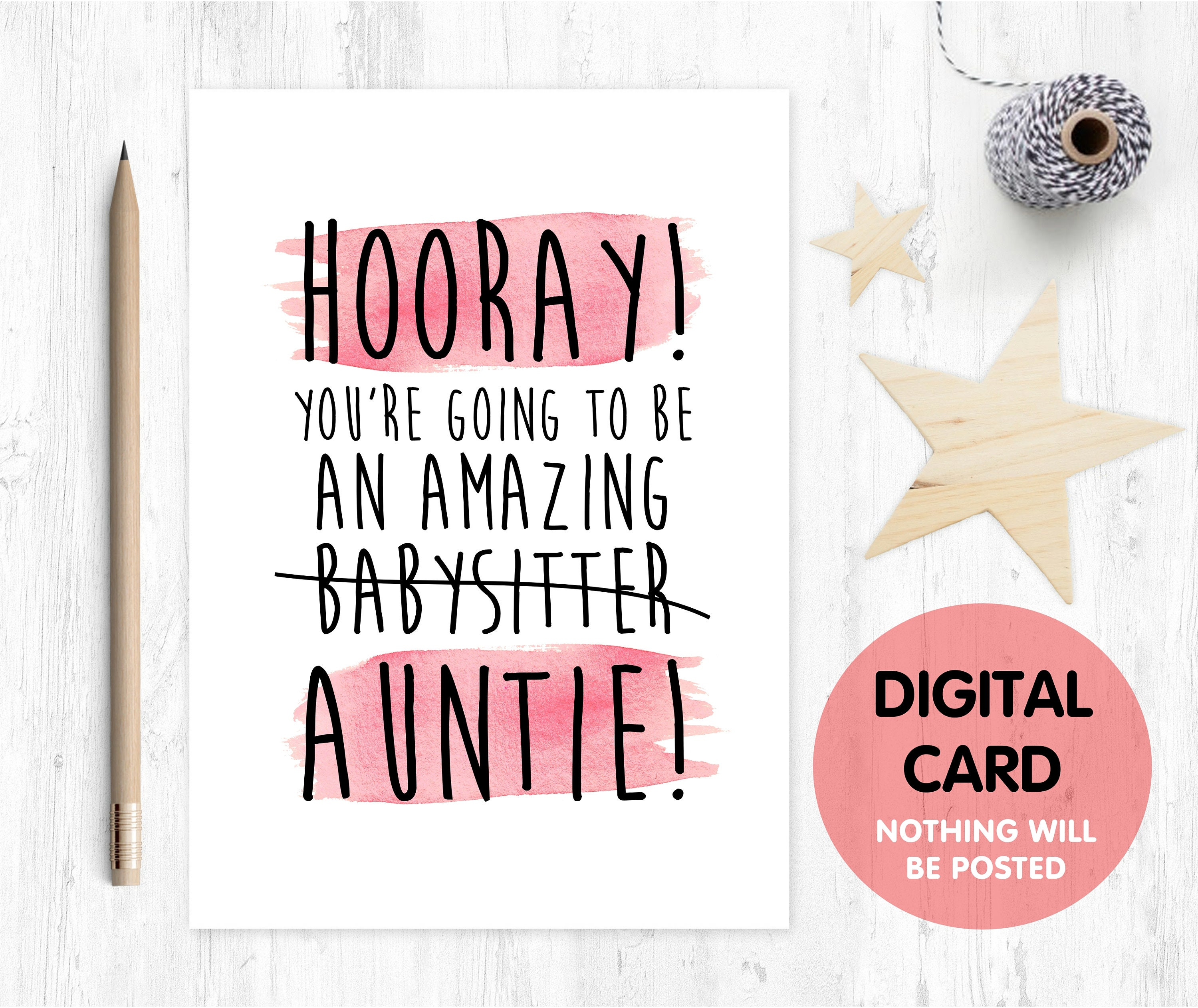 new auntie congratulations auntie new auntie card | Etsy