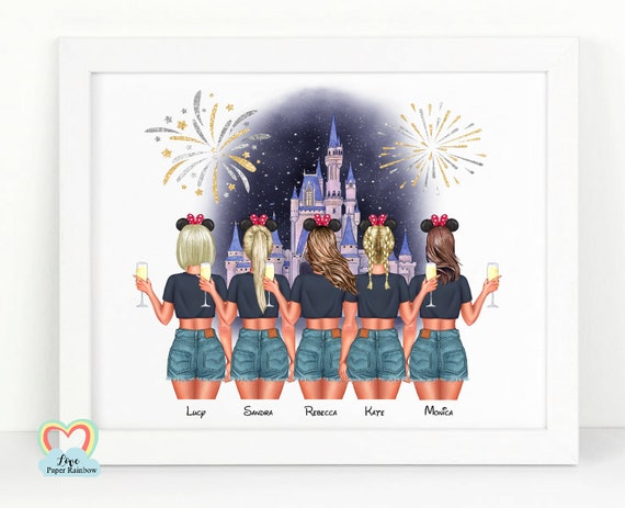 disney best friend print, disneyland gift, best friend 40th gift, best friend 50th print
