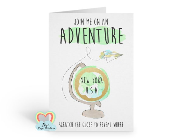 surprise trip scratch card | we're going on holiday | scratch and reveal | join me on an adventure | birthday scratch card | christmas