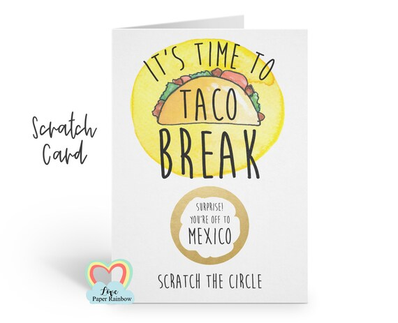 mexico boarding pass | plane ticket | mexico scratch card | it's time to taco break | scratch and reveal | surprise holiday | mexico holiday