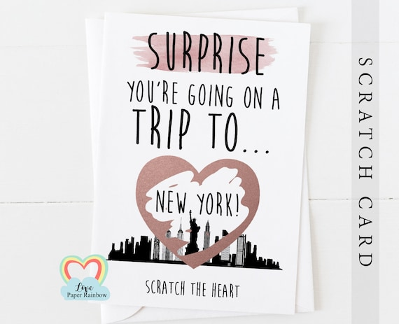 you're going to New York | New York surprise trip | New York surprise scratch card | New York card | New York holiday | New York gift
