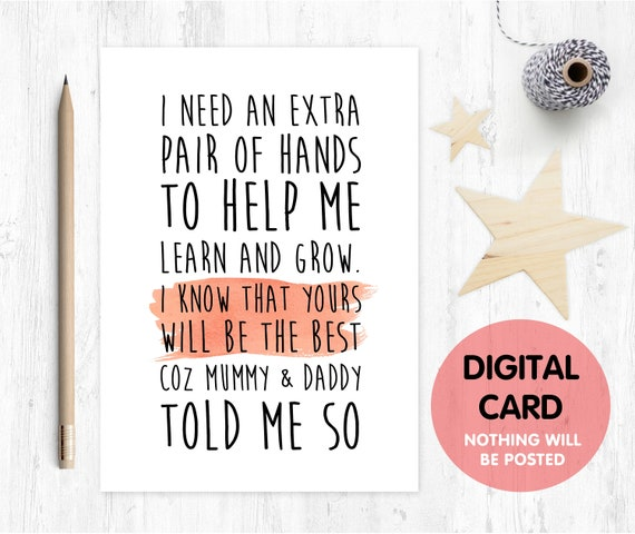 PRINTABLE will you be my godmother card, godmother card, printable godmother card, godmother poem, godparents, i need an extra pair of hands