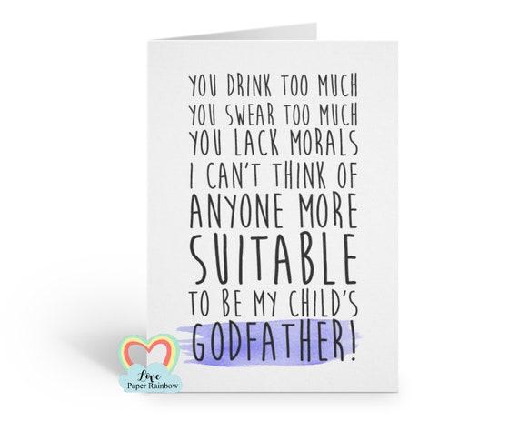 Veux-tu être ma marraine Scratch Carte Godfather parrain et la marraine proposition drôle rude