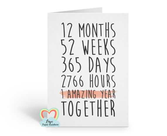 1st anniversary card, 1 amazing year, first year as mr and mrs, mr and mrs card, 1st wedding anniversary card, gay anniversary card