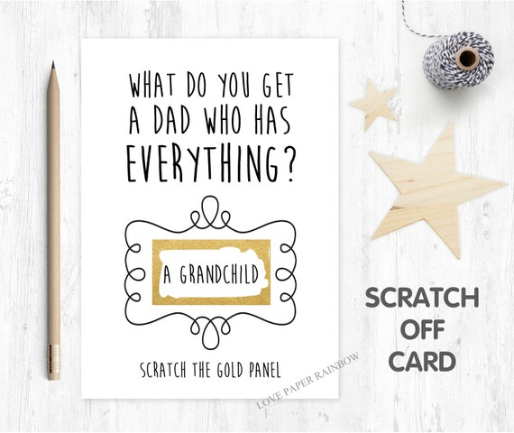you're going to be a grandad scratch card pregnancy announcement i'm pregnant funny pregnancy reveal card grandad reveal grandchild reveal