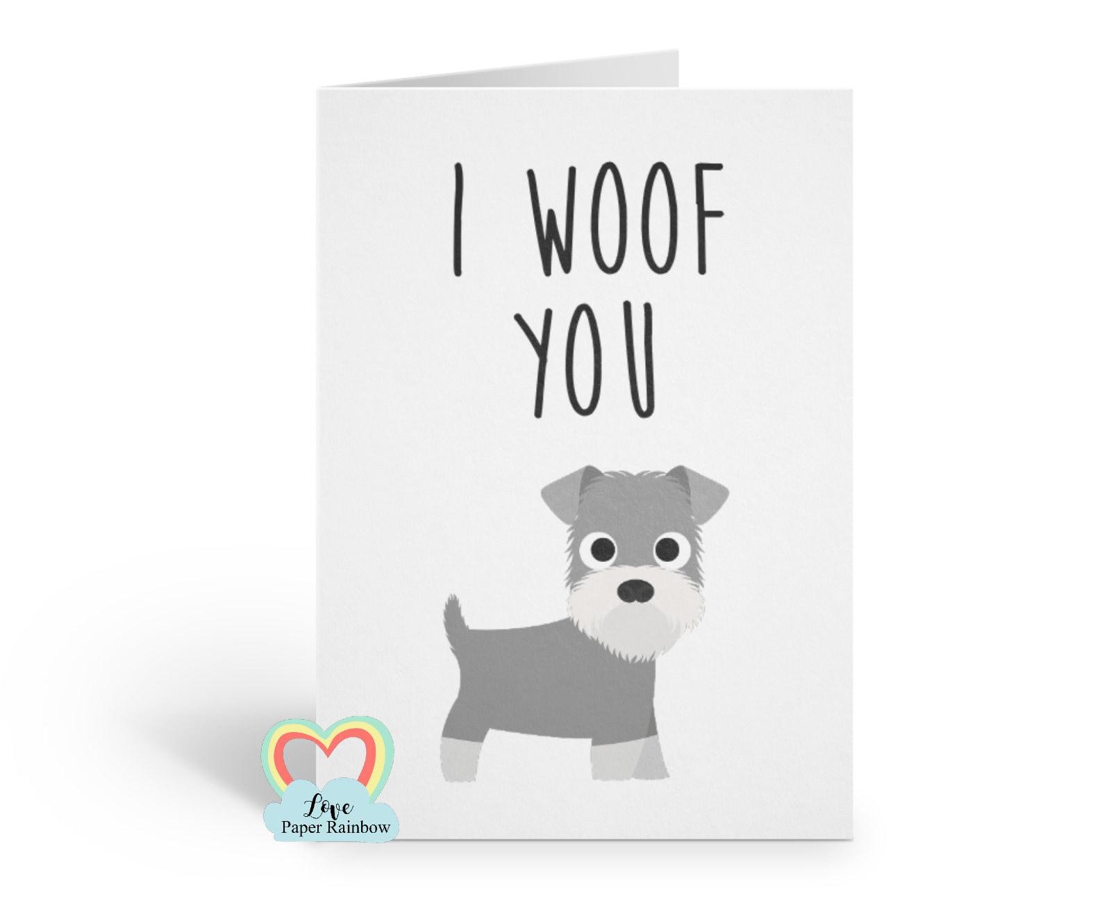 Schnauzer Card Mothers Day Anniversary Dog Mum