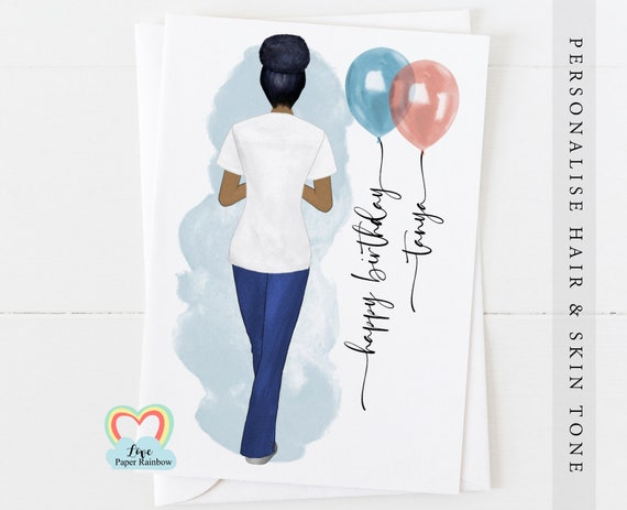 physio birthday card, personalised birthday card for physio, physiotherapist card