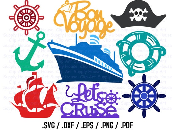 Cruise Ship Svg Files Cruise Clipart Cruise Boat Svg Use Etsy