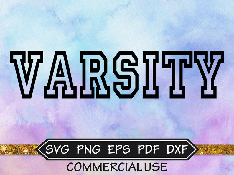 Varsity SVG Font Sports Svg Font Sports Jersey Font image 0