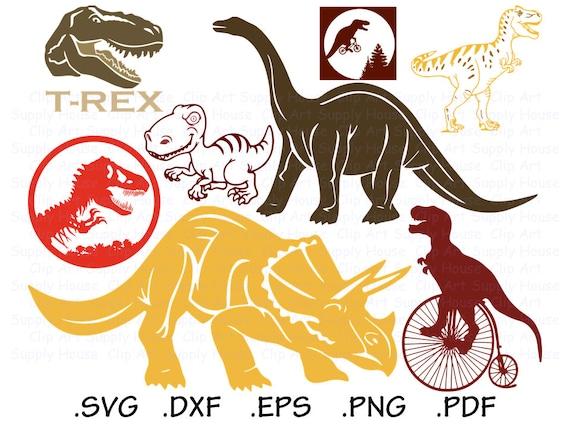 Dinosaur Svg Files T Rex Clipart Dinosaur Png Dinosaur Etsy