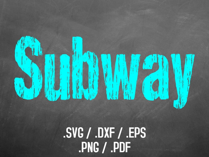 Subway Font Design Files For Silhouette or Cricut DXF Files image 0