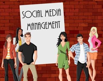 Social Media Marketing PACKAGE - Social Media Marketing, Social Media Management, Social Media, Facebook, Twitter, Instagram, Pinterest