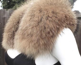 Outstanding Real RACCOON Fur Collar