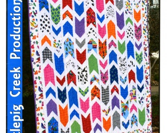 Sale! - Which Way Is Up? Chevron Design - Multi Size - Strip Set Friendly Quilt Pattern by Whistlepig Creek Productions #1243