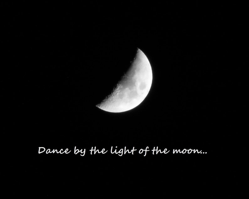 Notes On Shooting Moon >> Dance Moonlunar Photography Crescent Moon Picture Of Moon Etsy