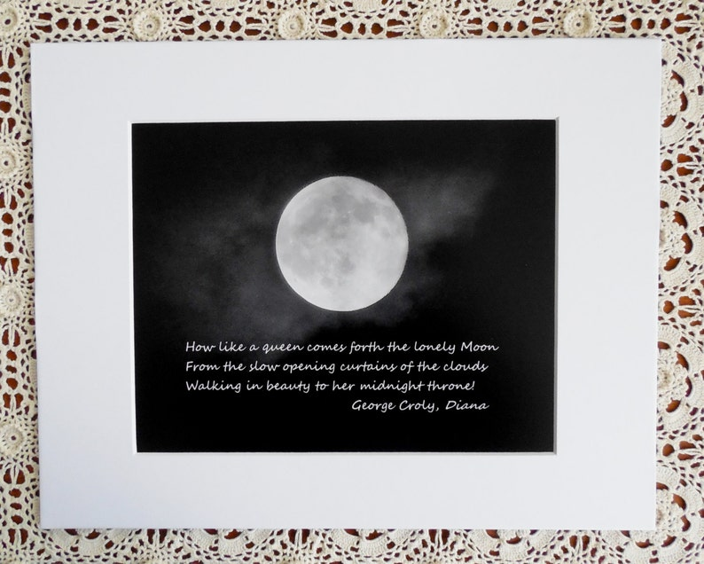 Queen Moonfull Moon Lunar Photography Moon Photography Etsy