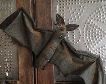 Primitive Halloween Bats Set of 2