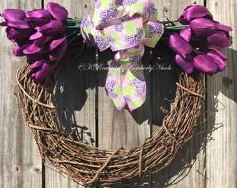 Purple Tulips and Bows