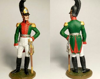 Russia 54 mm Colonel of the Life Guards Dragoon Regiment figure Tin soldier