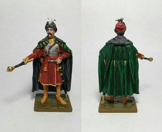 Tin figure 54mm Russia 1674 Moscow strelets 8th regiment T.F.Polteva