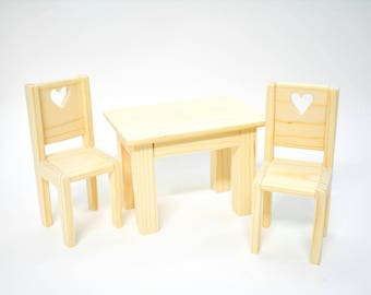Doll Furniture  Doll House Dining Table   Doll Kitchen Table And Chair Set    1:6 Dining Room   Unfinished Doll Furniture Dining Room Chairs