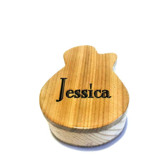 wooden guitar pick box pick storage plectrum box pick etsy. Black Bedroom Furniture Sets. Home Design Ideas