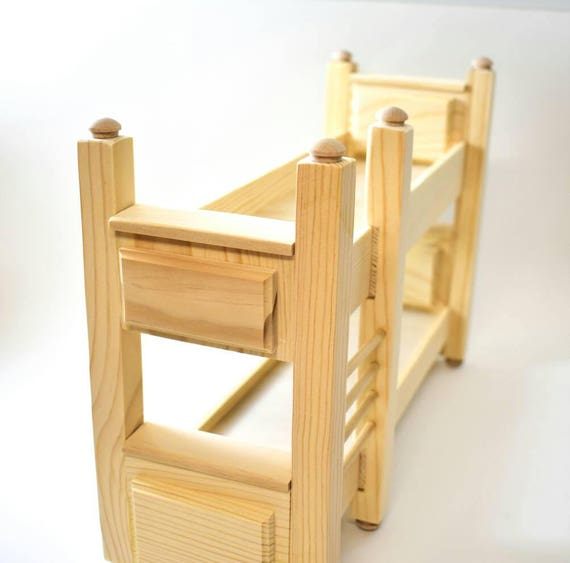 Doll Furniture Unpainted Bunk Beds~1//6 Scale Barbie Blythe