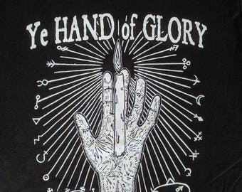 Ye Hand of Glory - Gothic Occult Shirt for the Witch or Warlock on the Go