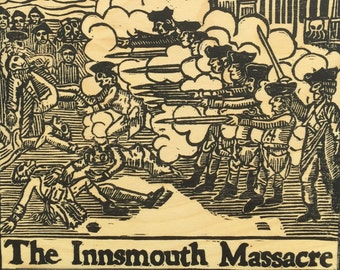 The Innsmouth Massacre - Handcarved Lovecraft Pressed to Wood