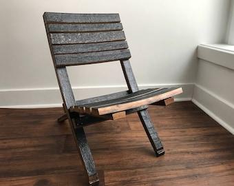 Bourbon/Whiskey Barrel Patio Chair