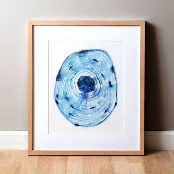 Osteon Aquarell Druck Anatomie-Aquarell-Kunst Knochen   Etsy