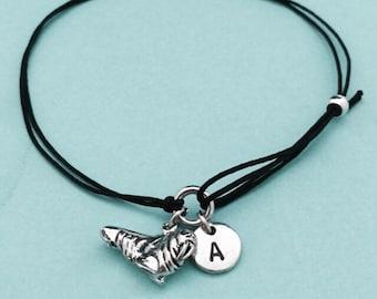 Walrus cord bracelet, walrus charm bracelet, adjustable bracelet, charm bracelet, personalized bracelet, initial bracelet, monogram