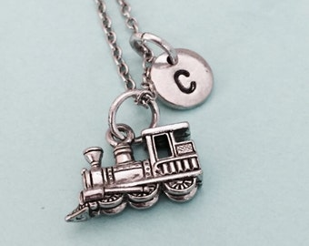 Jewels Obsession Silver Train Engine Locomotive Pendant 14K Yellow Gold-plated 925 Silver Train Engine Locomotive Pendant