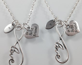 Best friend necklace, personlaized best friend jewelry, love necklace
