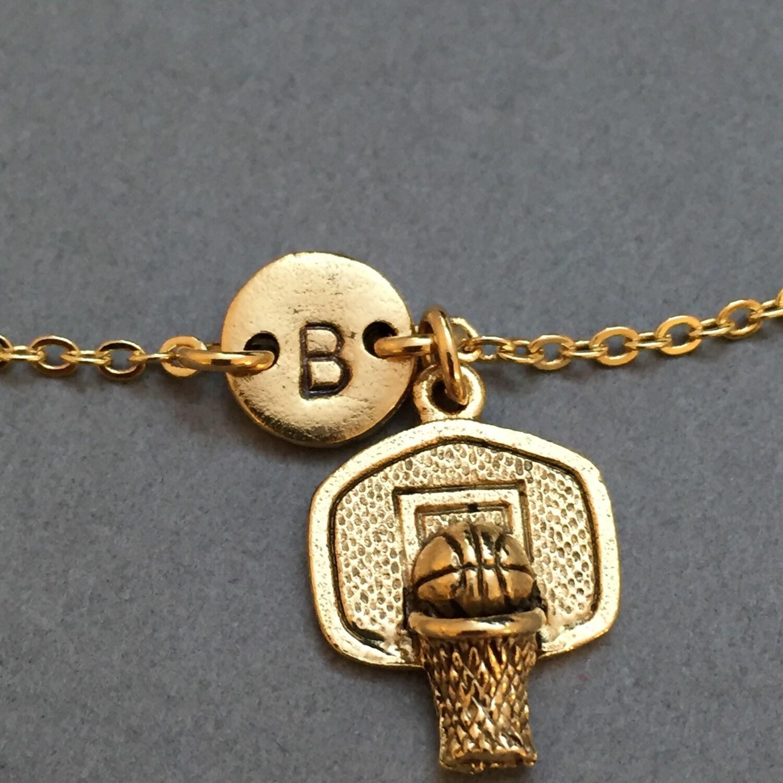 Basketball Charm Bracelet: Basketball Hoop Charm Bracelet, Basketball Hoop Charm