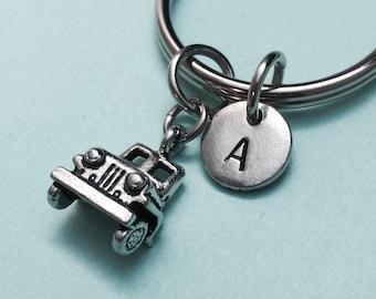 Jeep keychain, Jeep charm, vehicle keychain, personalized keychain, initial keychain, customized keychain, monogram