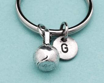 Kettlebell keychain, kettlebell charm, weight keychain, personalized keychain, initial keychain, customized keychain, monogram