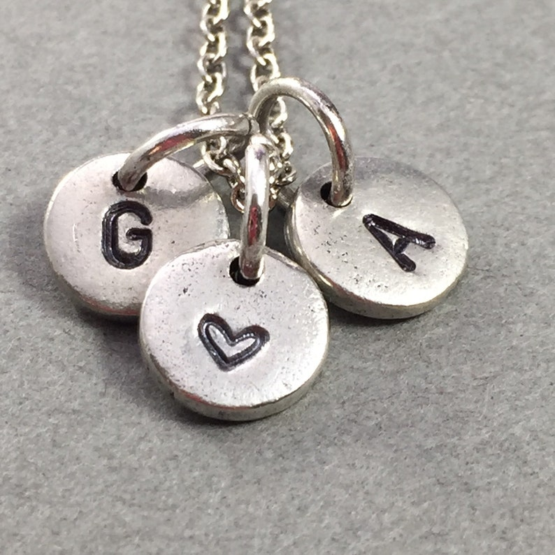 gift for her personalized necklace heart necklace initial necklace love necklace Couples necklace