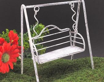 Fairy Garden Little Metal Swing