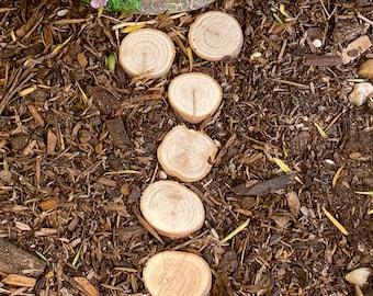 Fairy Garden wooden stepping stones