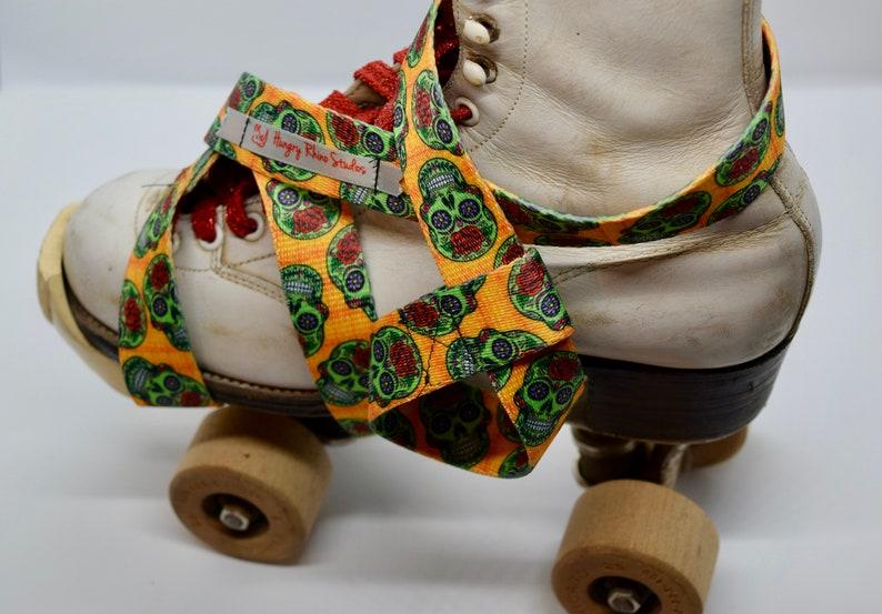 Skate Leash Zombie Sugar Skull Skate Strap Skate Noose image 0