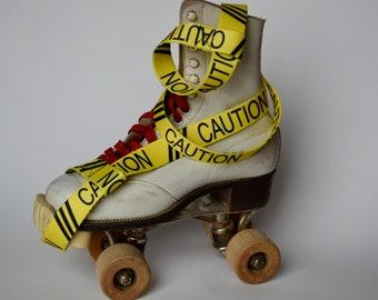 Skate Leash Caution, Skate Noose, Skate Strap, Skate Sling,Yoga Strap, Yoga Mat Strap, skateboard strap, Jam skate, stretch strap