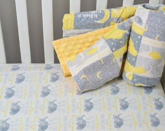 Set//2 Crib Sheets Yellow Green Boy Girl Baby Flower Sheet Floral Fitted layette