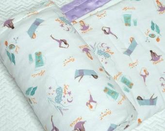 Yoga Baby Blanket, Meditation Baby Blanket, Self Care, Purple Minky Blanket, Lavender Baby Blanket, Yoga Baby Gift, Yoga Mom, Yoga Lover