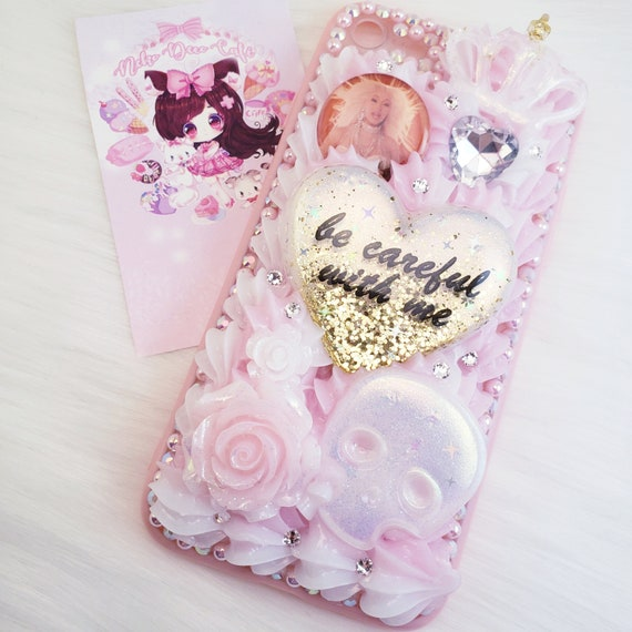 """size 40 a4fc8 838f1 iPhone 7/8 Cardi B """"Be Careful With Me"""" Decoden Whipped Cream Phone Case"""